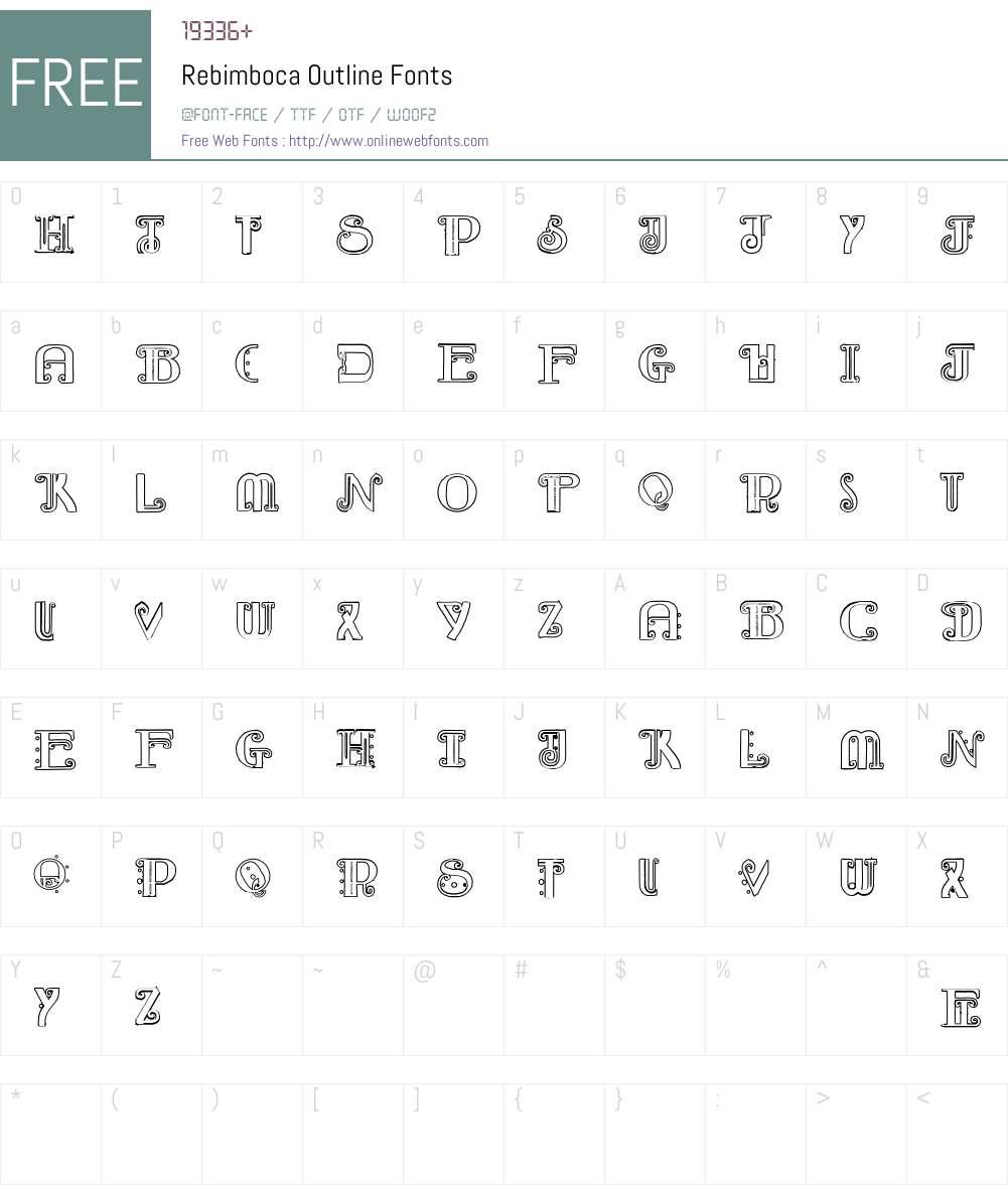 Rebimboca Outline Font Screenshots