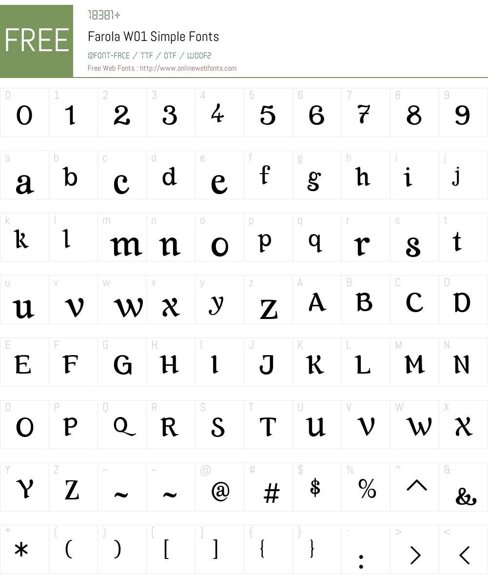FarolaW01-Simple Font Screenshots