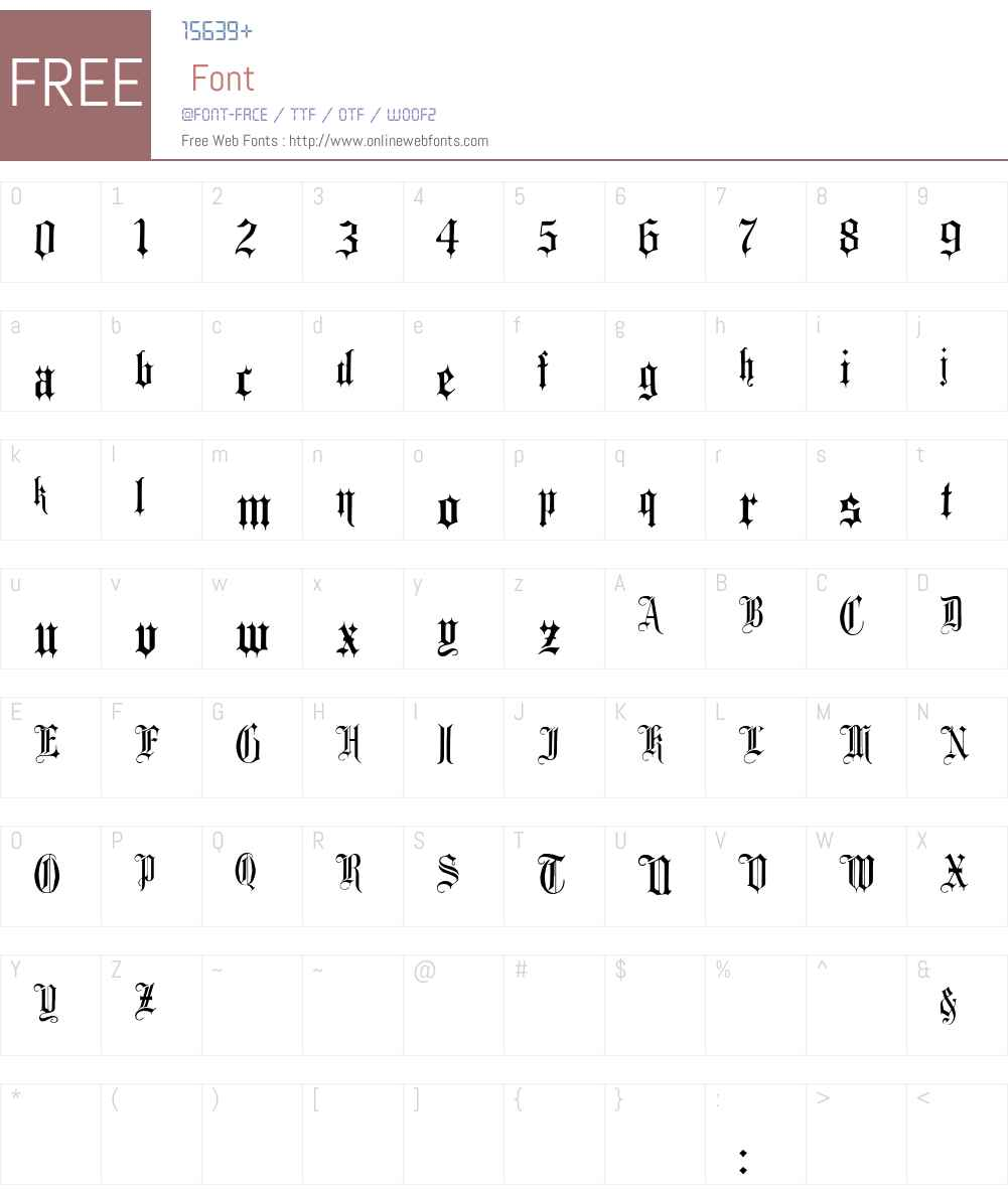 Minster No 1 Font Screenshots