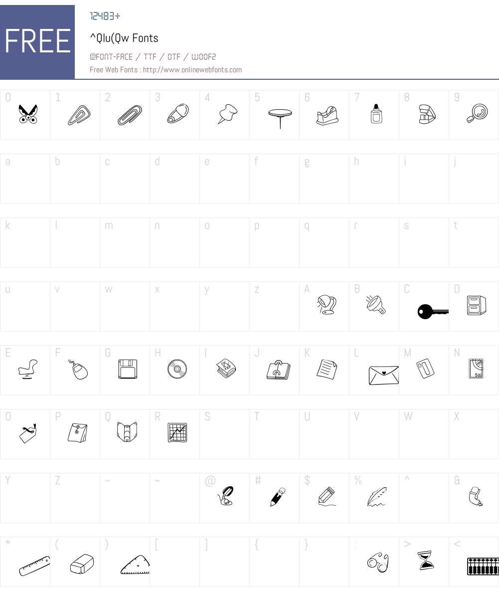 ^Qlu(Qw Font Screenshots