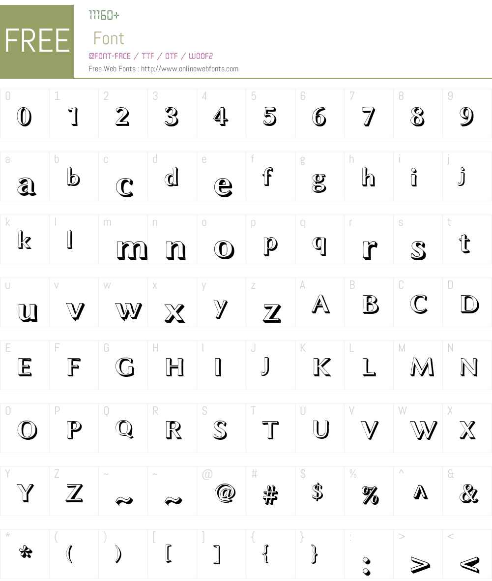Linux Biolinum Shadow Font Screenshots
