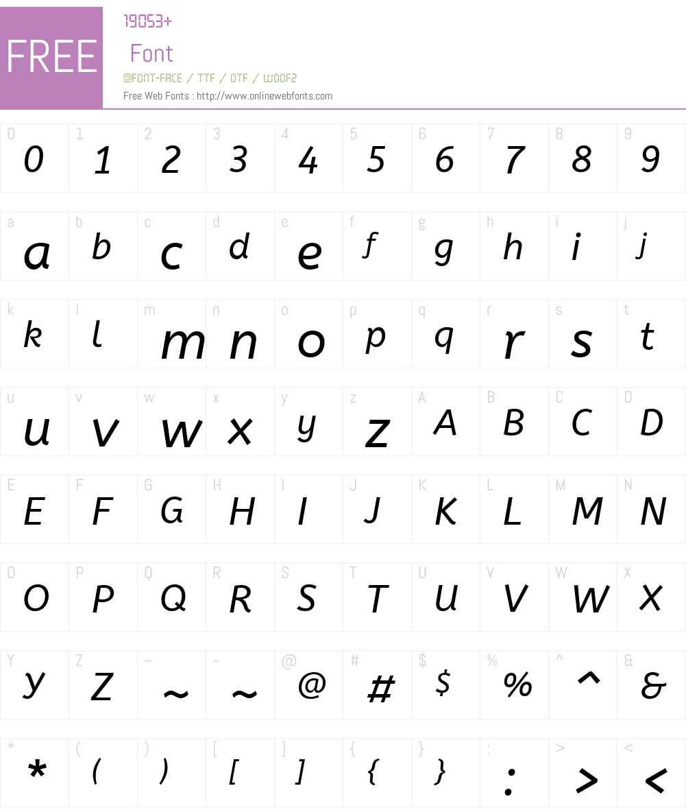 ABeeZee Font Screenshots