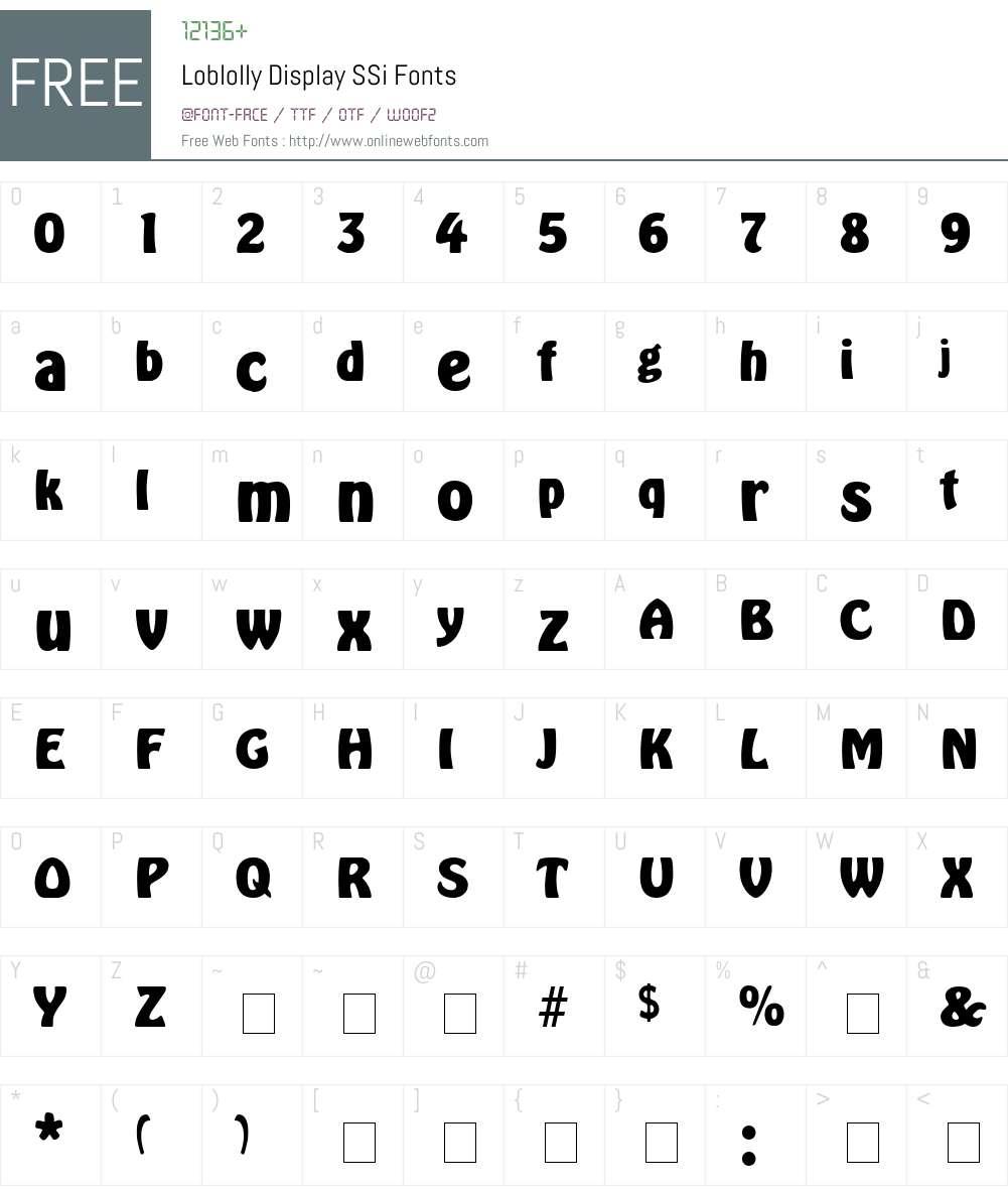 Loblolly Display SSi Font Screenshots