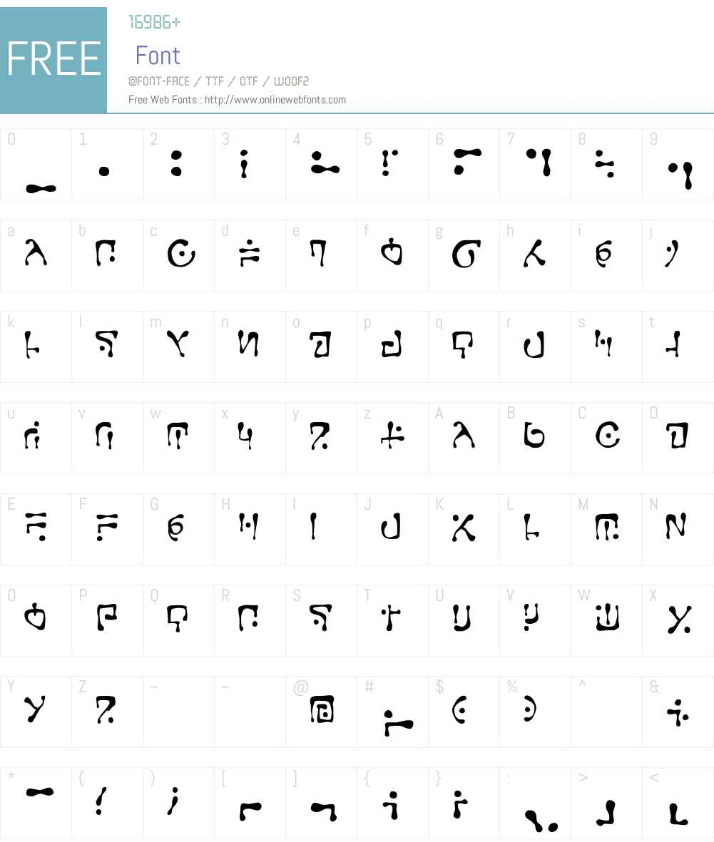 CCGobbledygookW00-Regular Font Screenshots