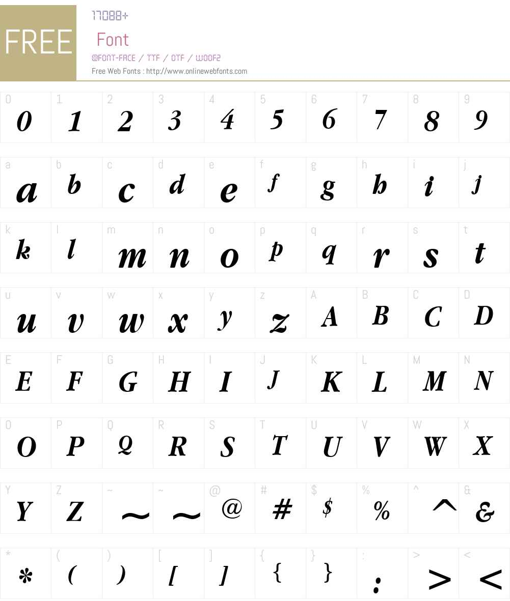 Apple Garamond Font Screenshots