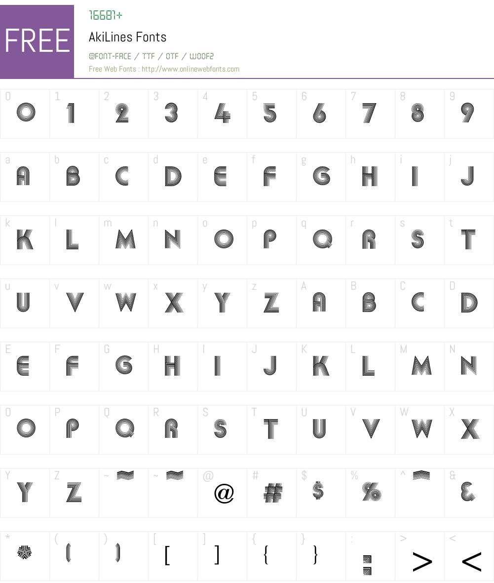 Aki Font Screenshots