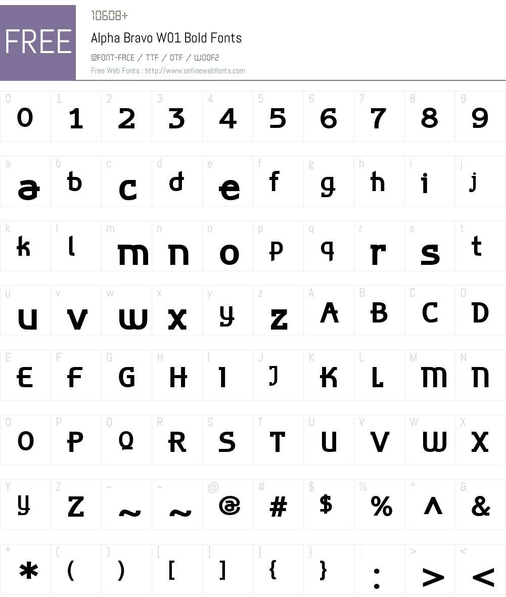 AlphaBravoW01-Bold Font Screenshots