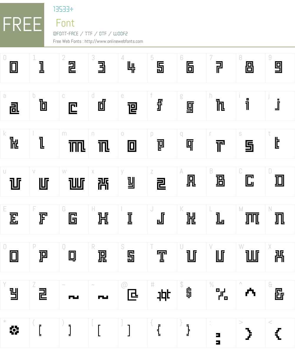 Archian Font Screenshots