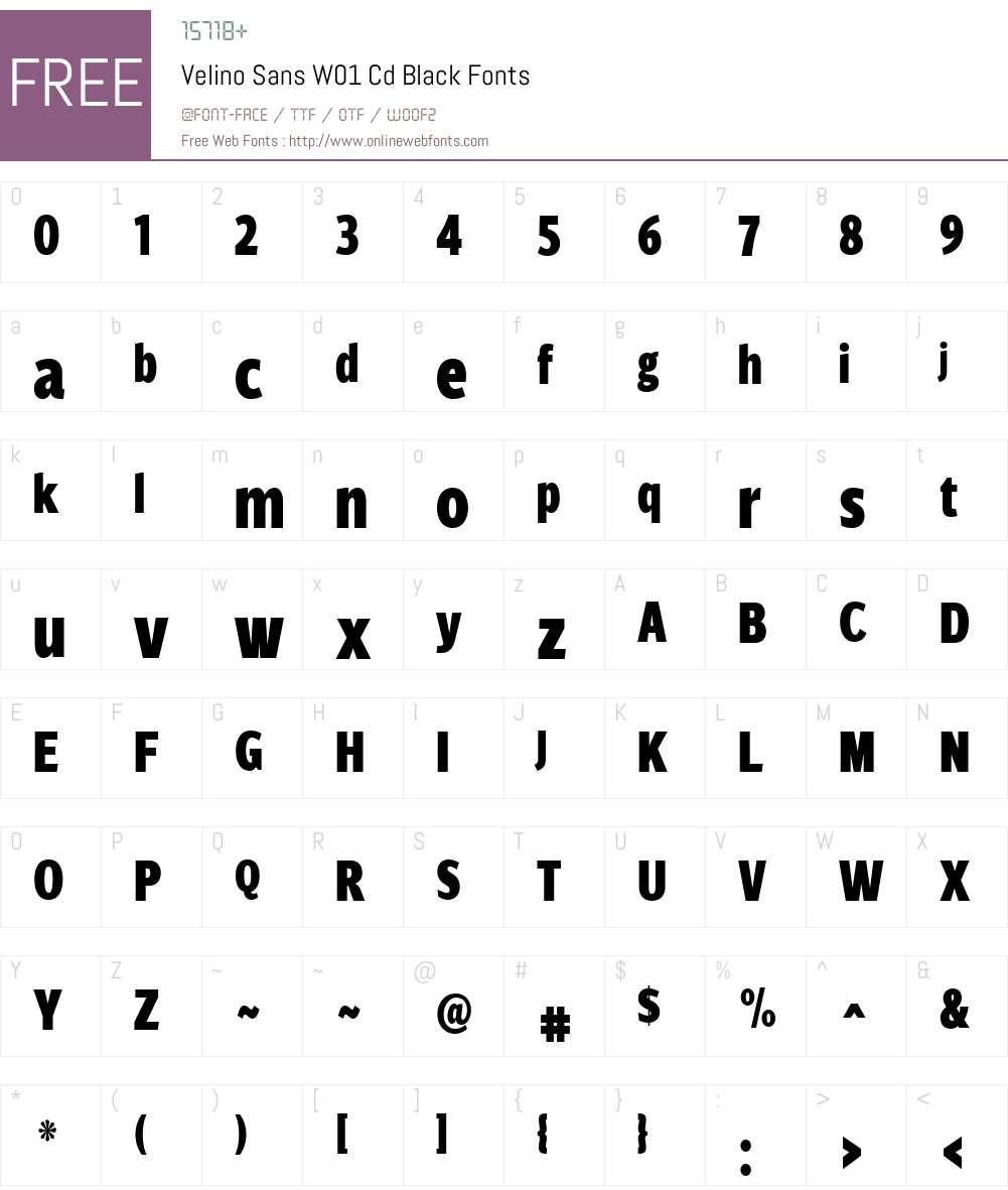 VelinoSansW01-CdBlack Font Screenshots