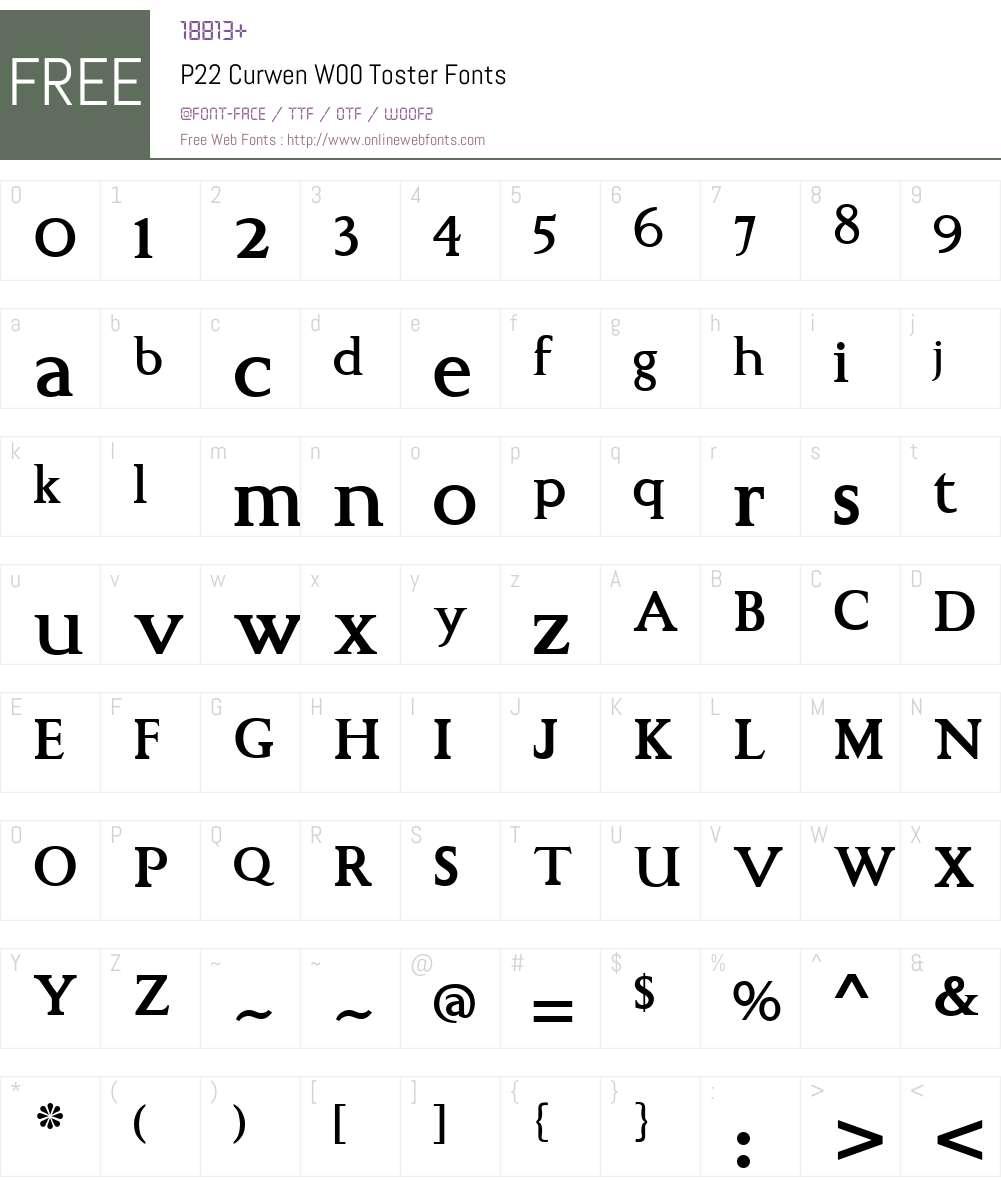 P22 Curwen Font Screenshots