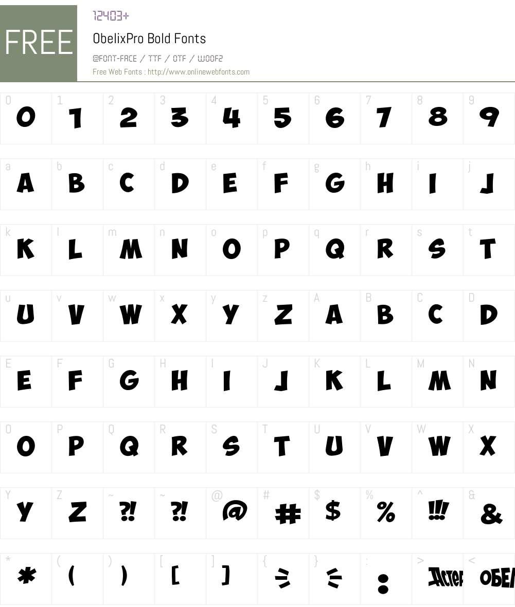 ObelixPro Font Screenshots