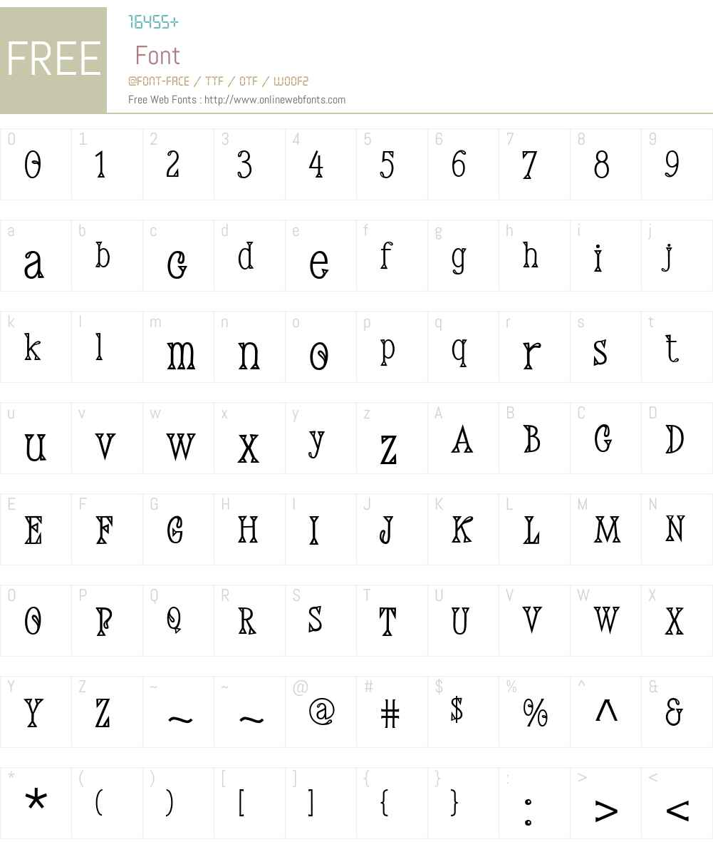 DemisW01-Regular Font Screenshots