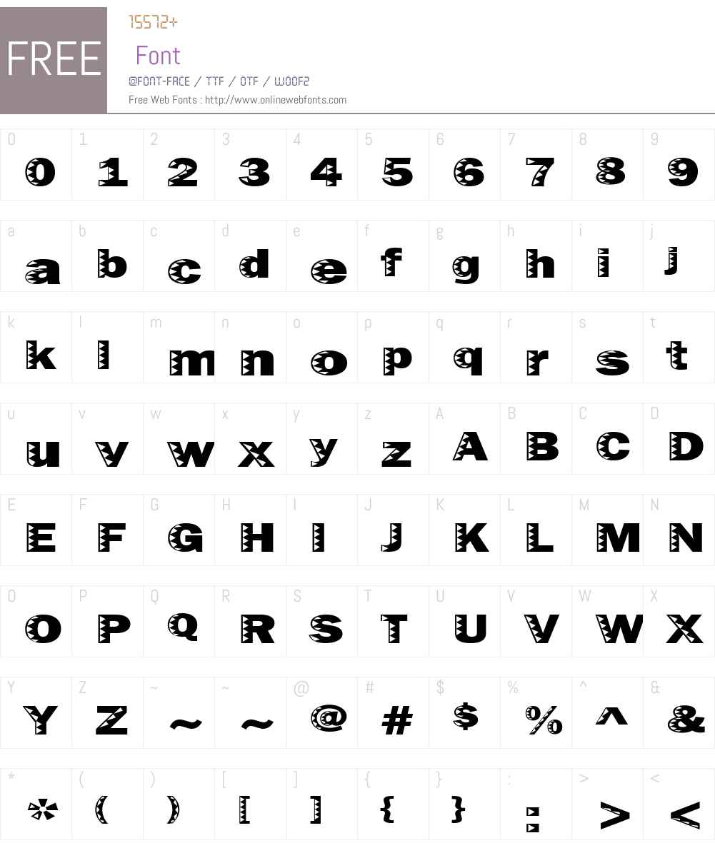 Uncey Font Screenshots