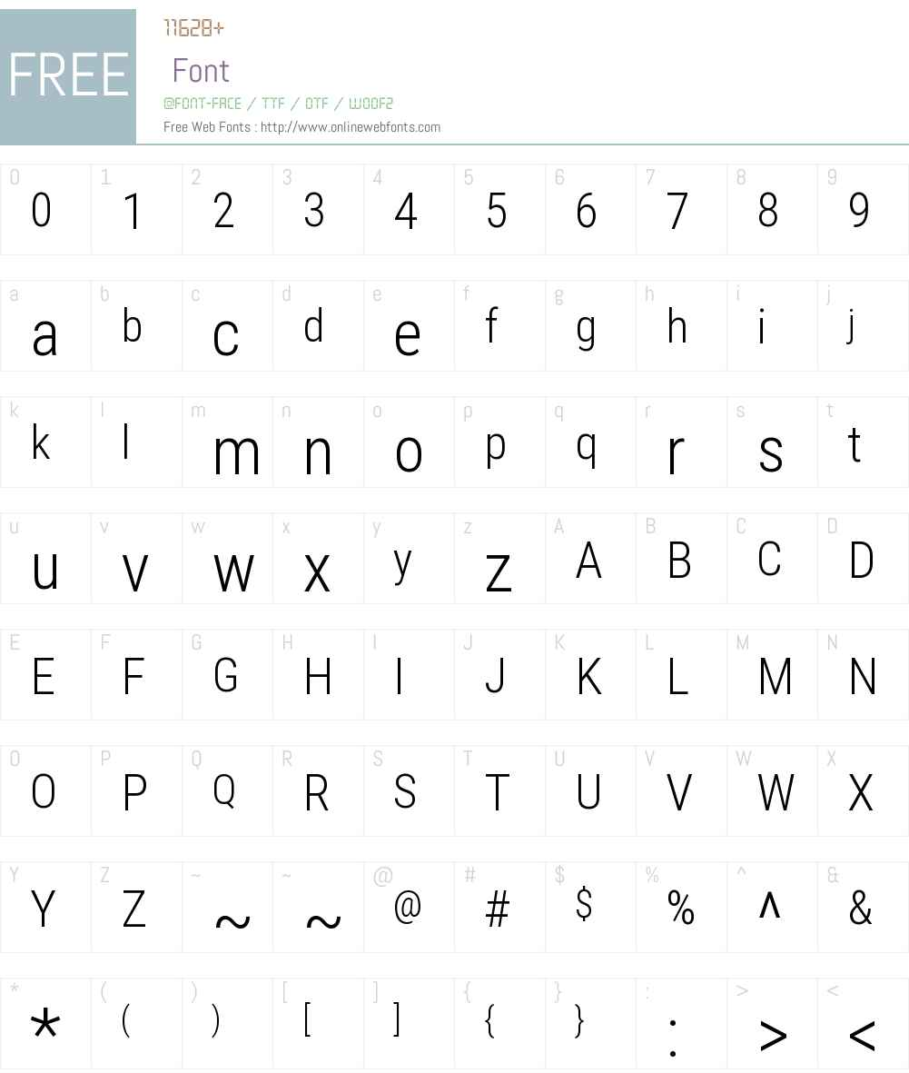 Roboto Condensed Font Screenshots
