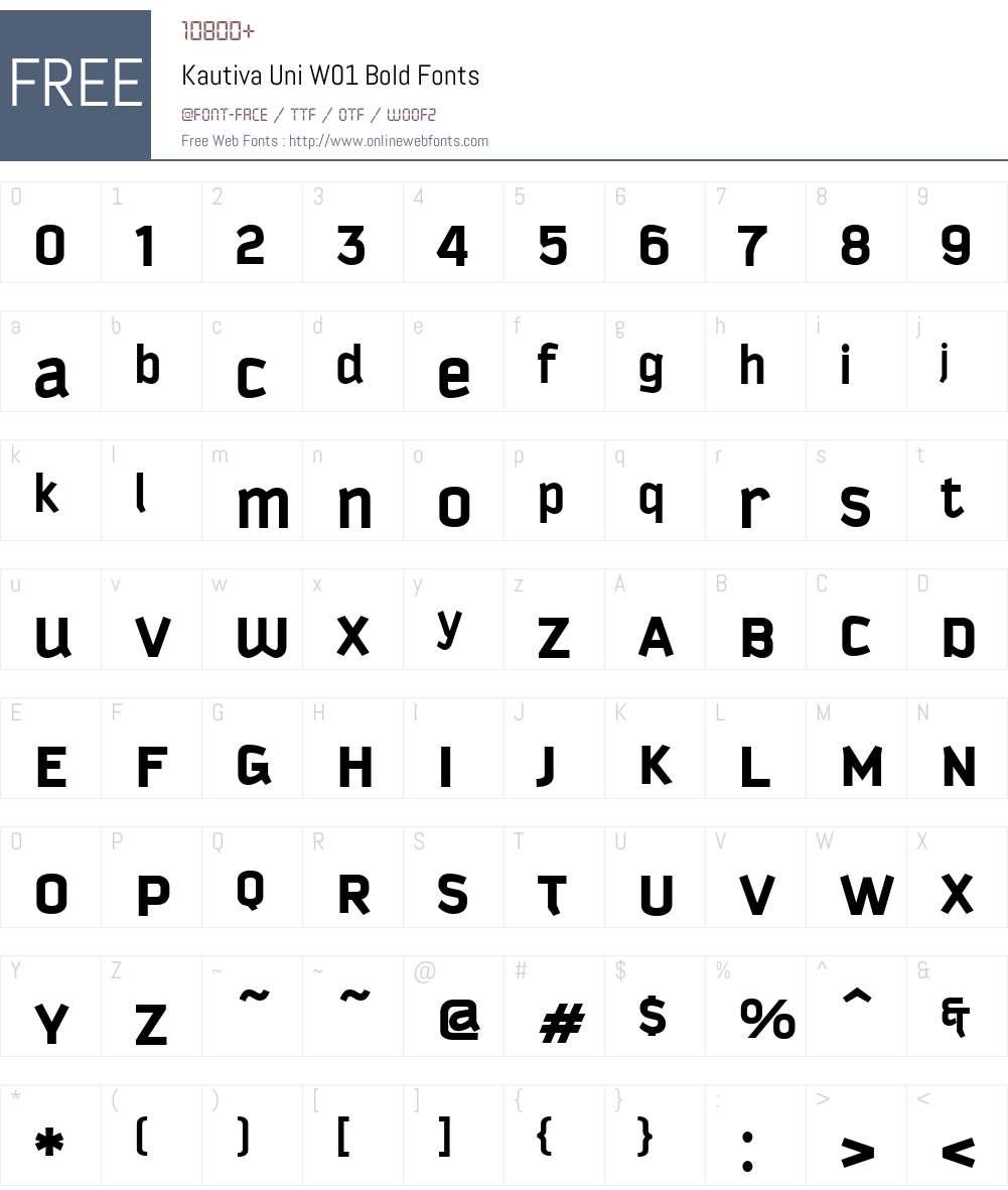 KautivaUniW01-Bold Font Screenshots