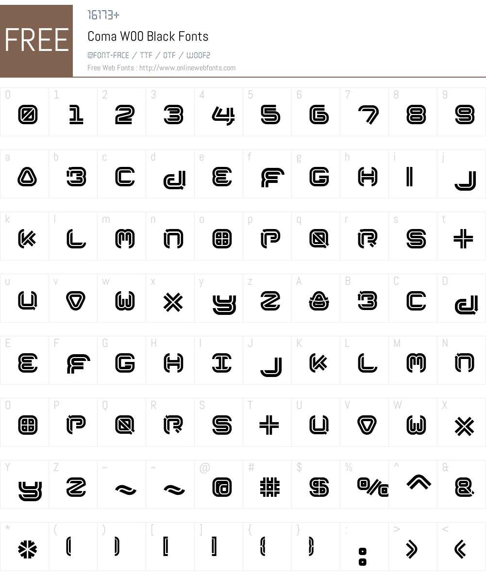 Coma Font Screenshots