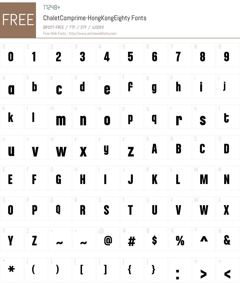 ChaletComprime-HongKongEighty Font Screenshots