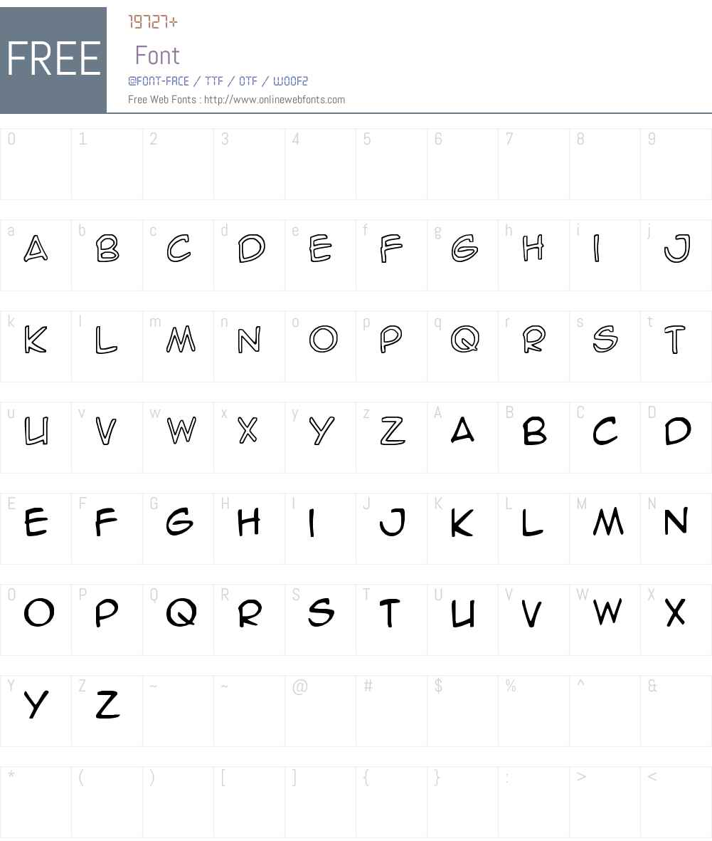 SpideRaY Font Screenshots