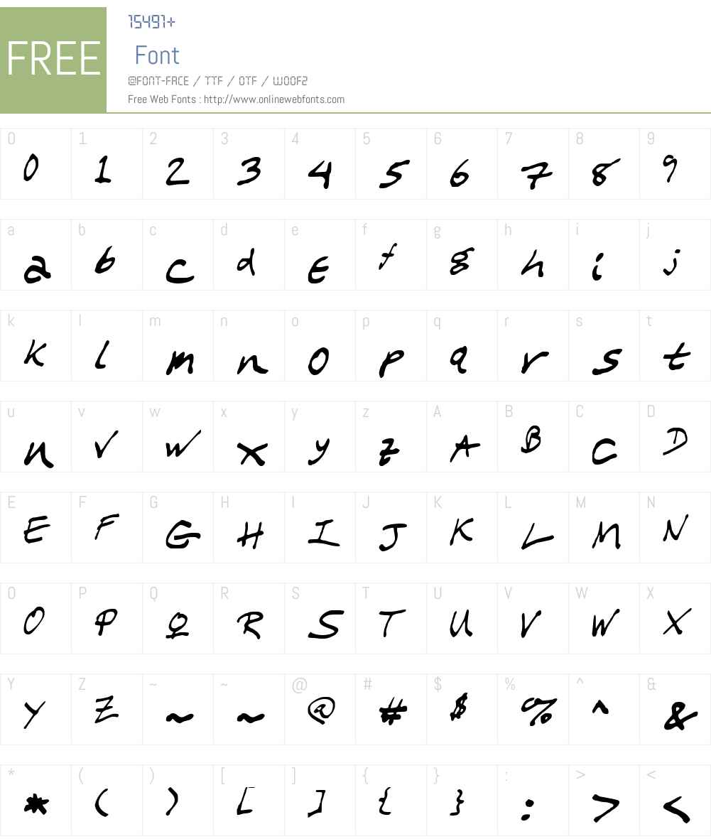 WL Scrawl My Children Font Screenshots
