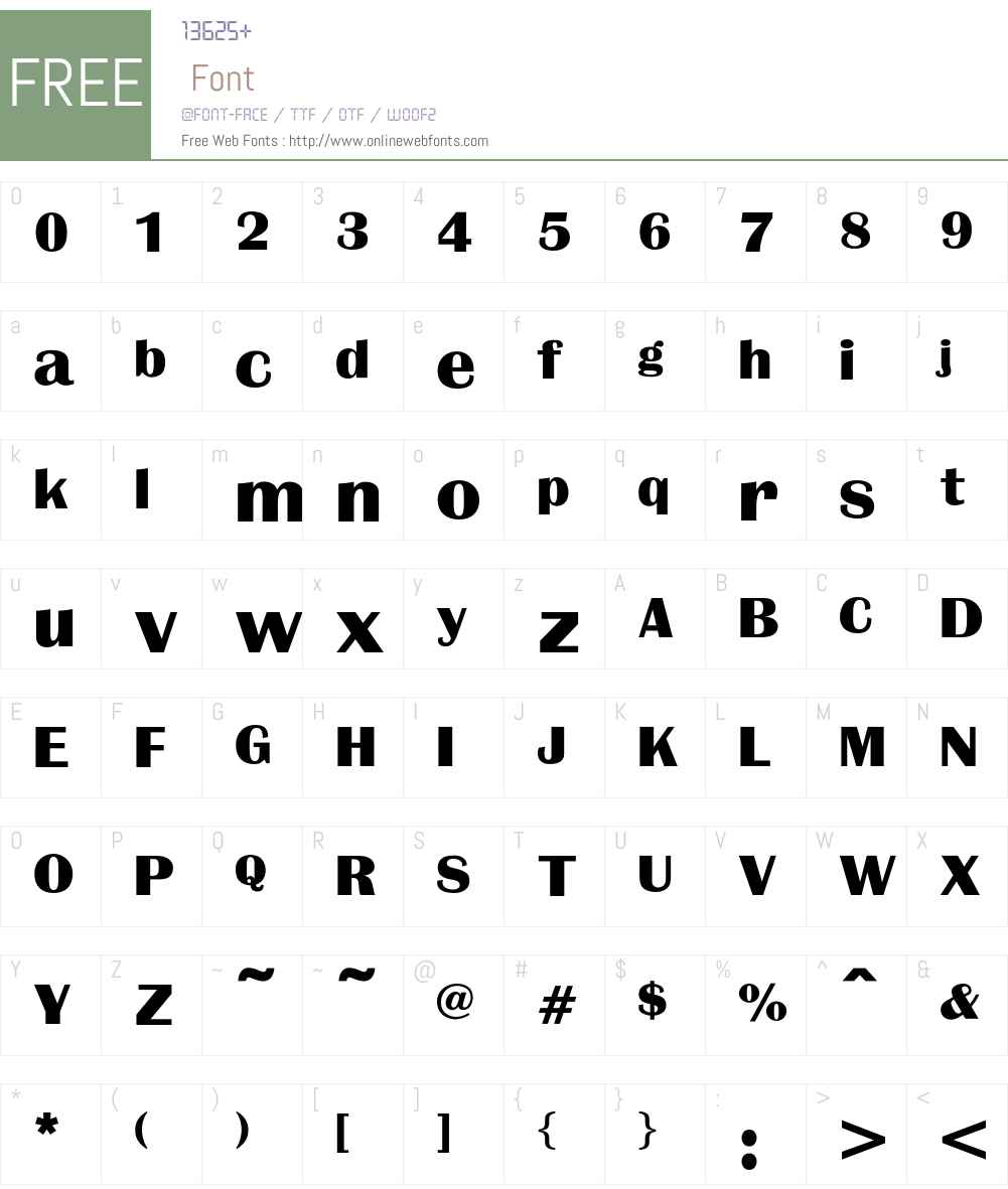 QueenBold Font Screenshots