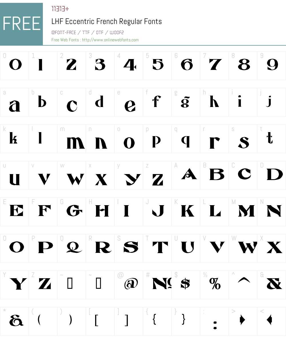 LHF Eccentric French Font Screenshots