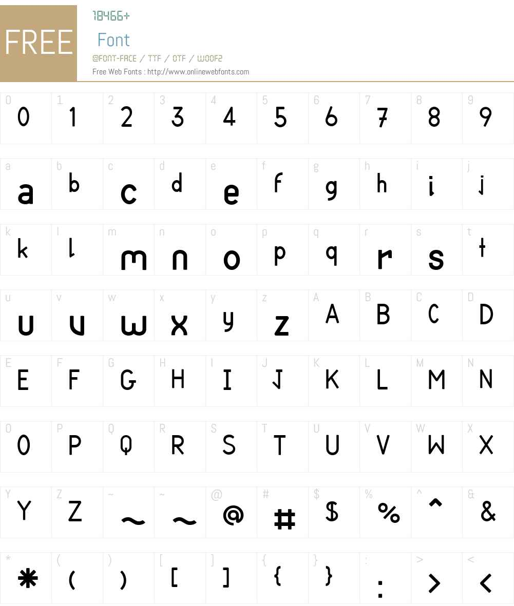 CortexW00-Bold Font Screenshots