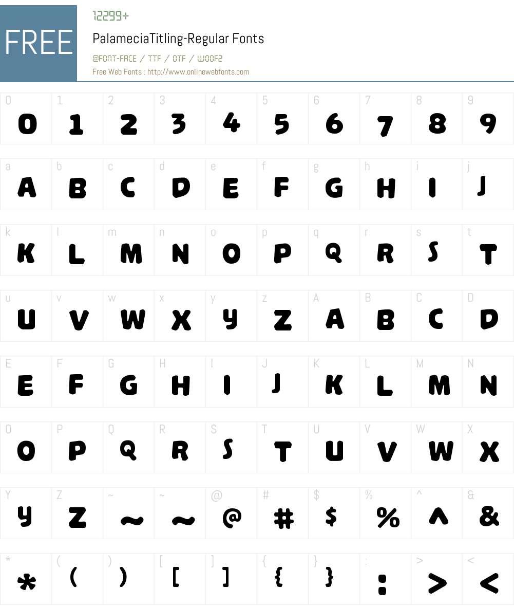 Palamecia Titling Font Screenshots