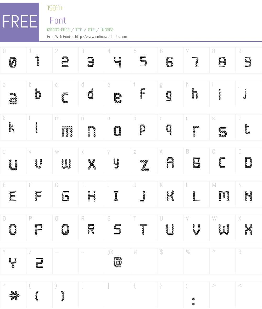 Blokada Font Screenshots