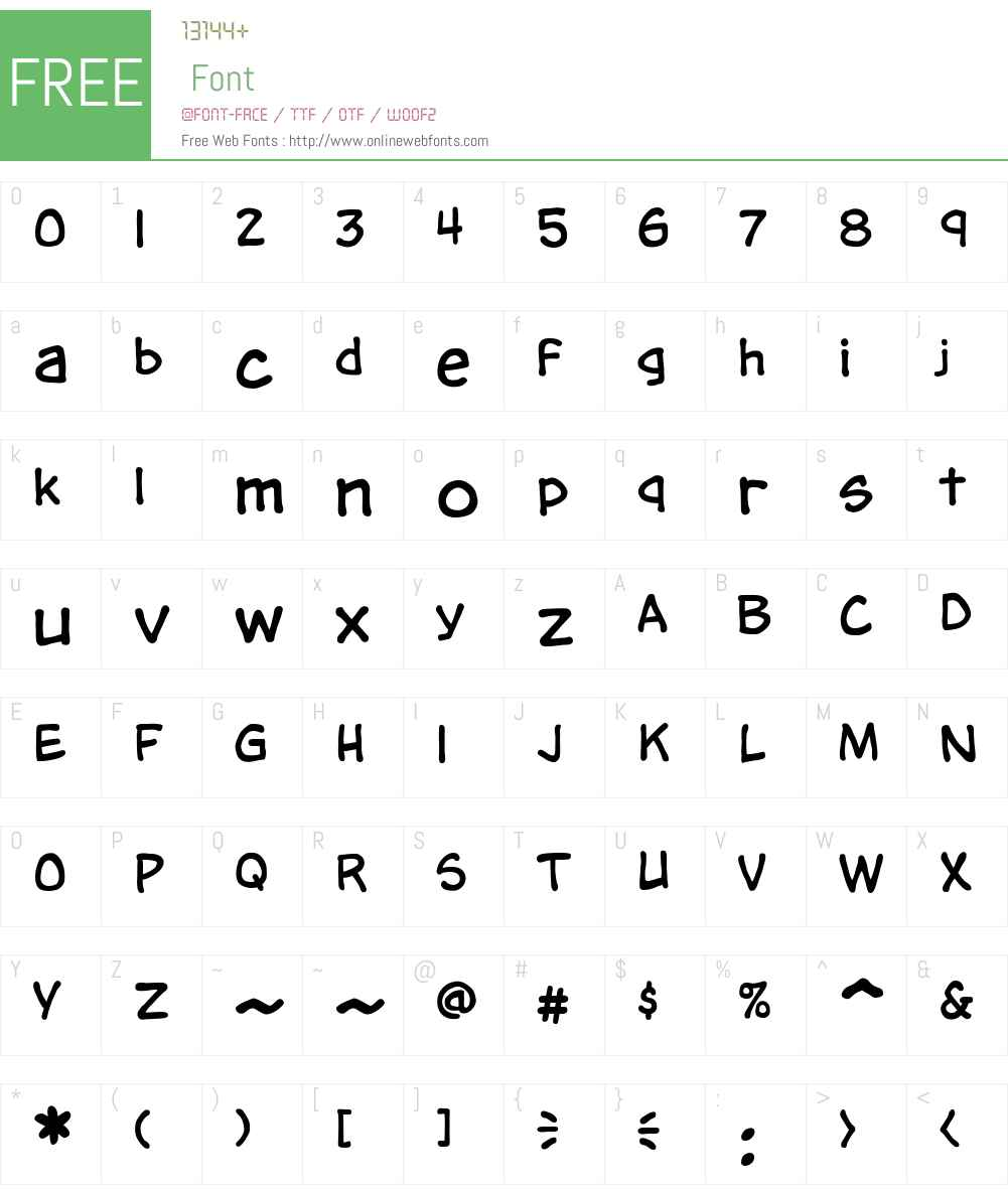 CCTimSaleLowerW00-Regular Font Screenshots