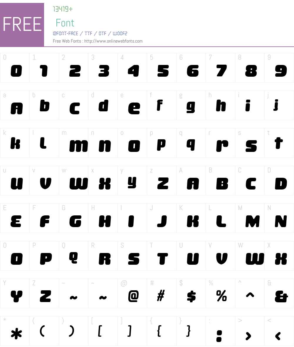 SheaffW00-Regular Font Screenshots