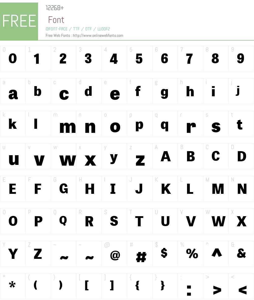 Tablet Gothic Font Screenshots