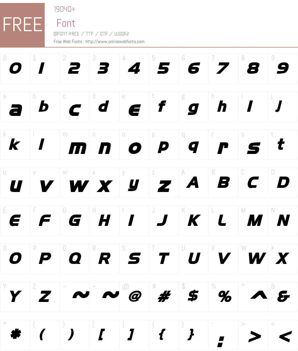 Newtown Font Screenshots