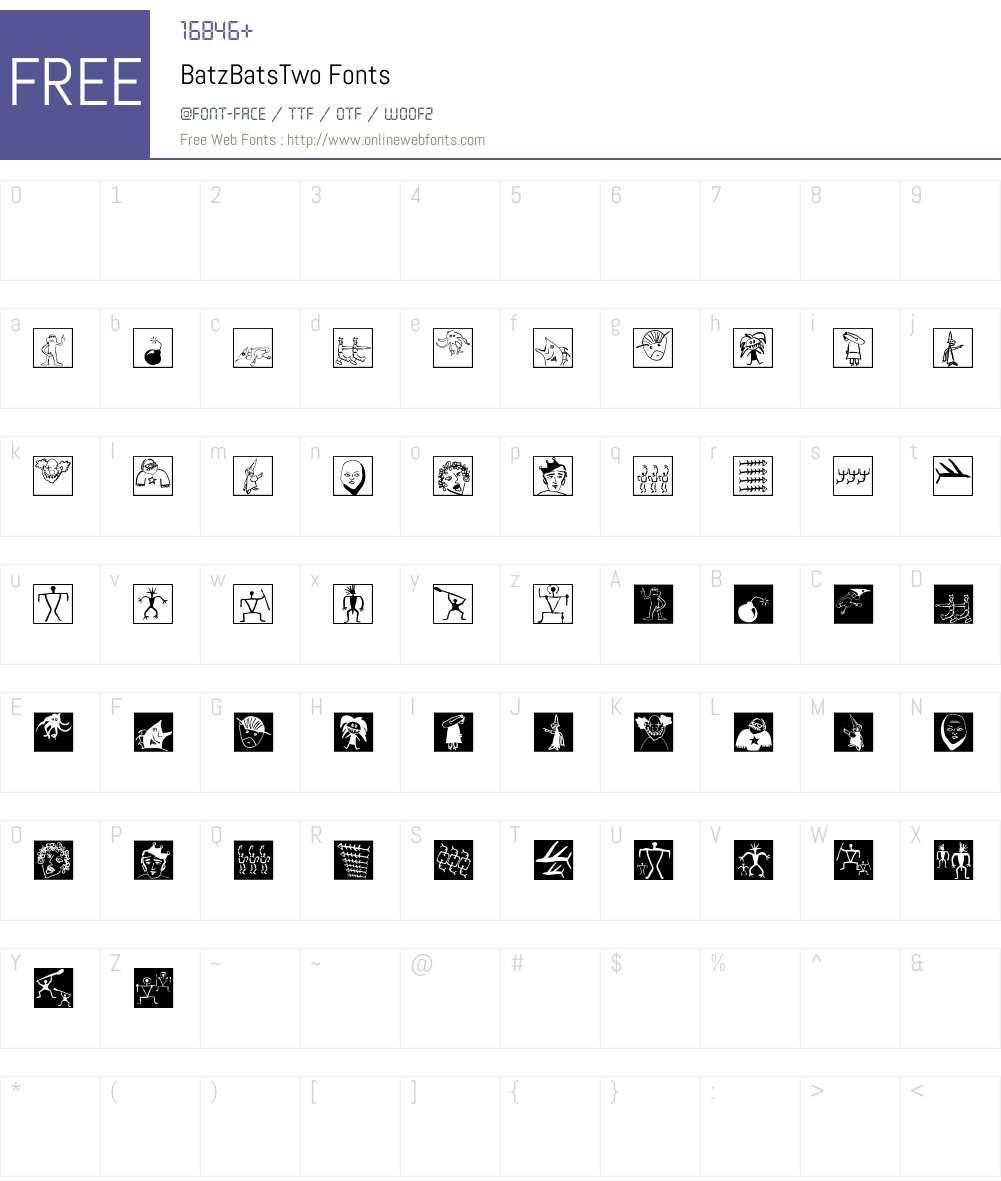 BatzBatsTwo Font Screenshots