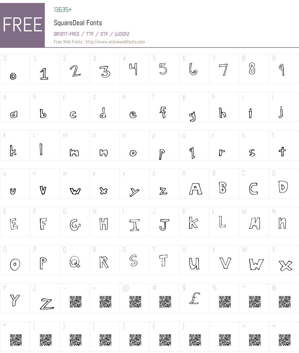 SquareDeal Font Screenshots
