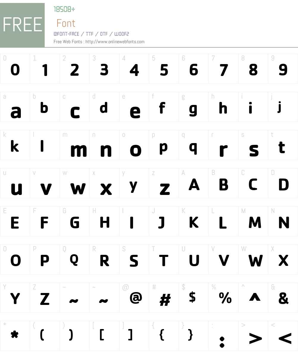 CachetW01-Bold Font Screenshots