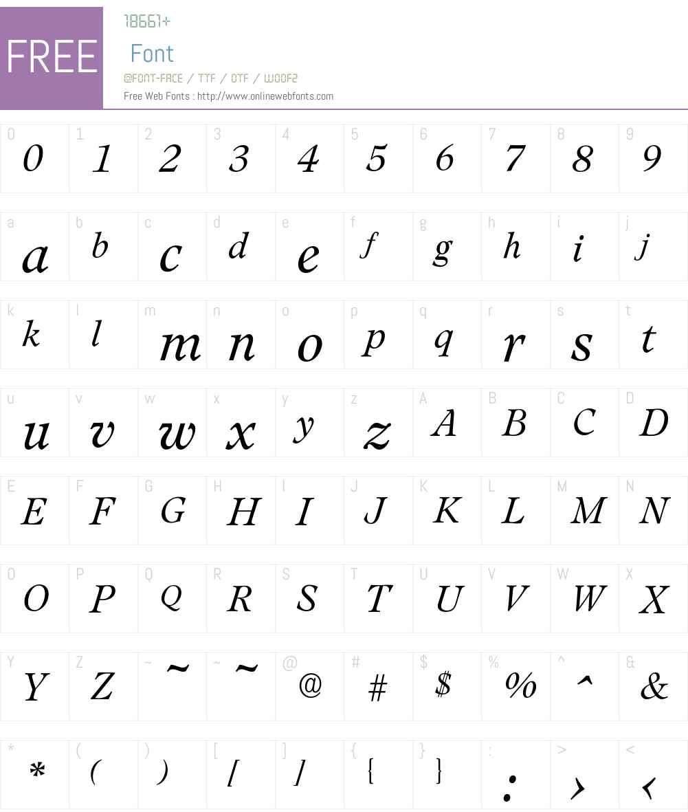 Leamington-LightIta Font Screenshots