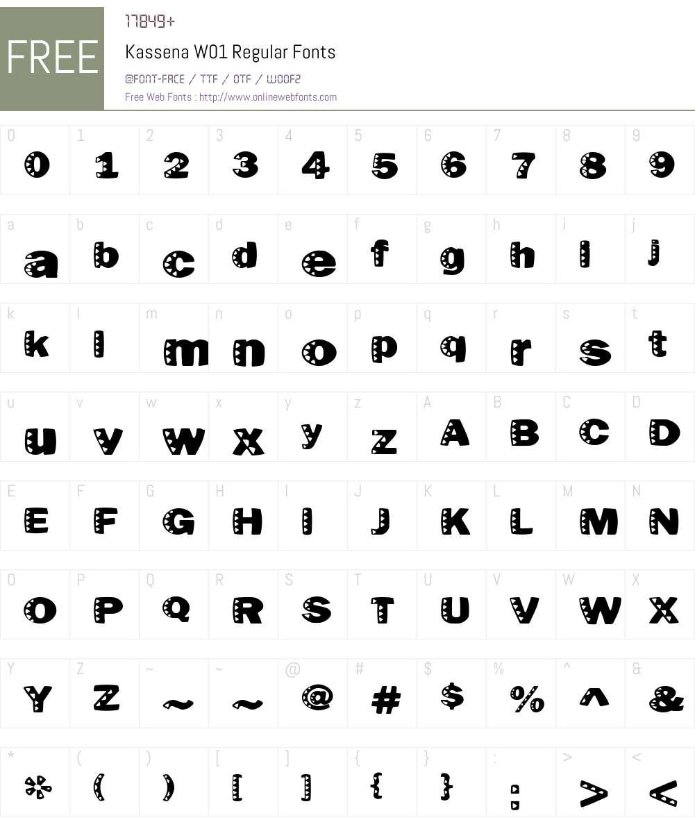 KassenaW01-Regular Font Screenshots