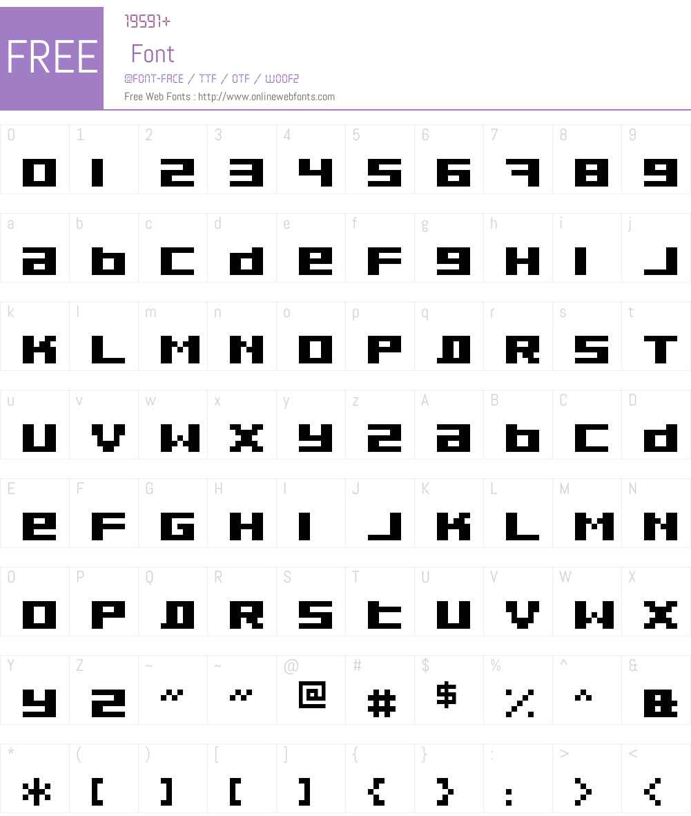 Pixeldust Font Screenshots