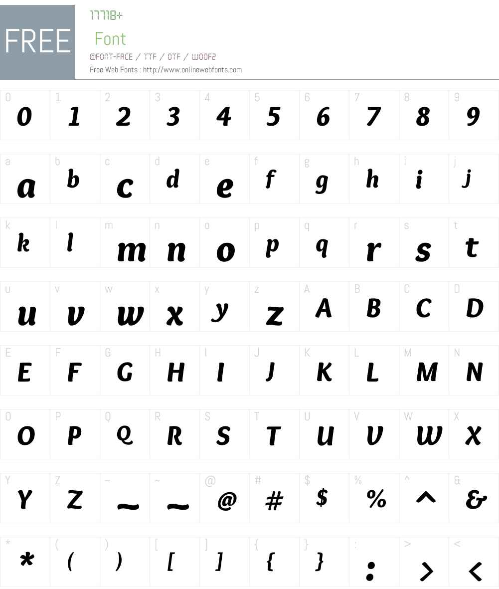 Overlock Font Screenshots