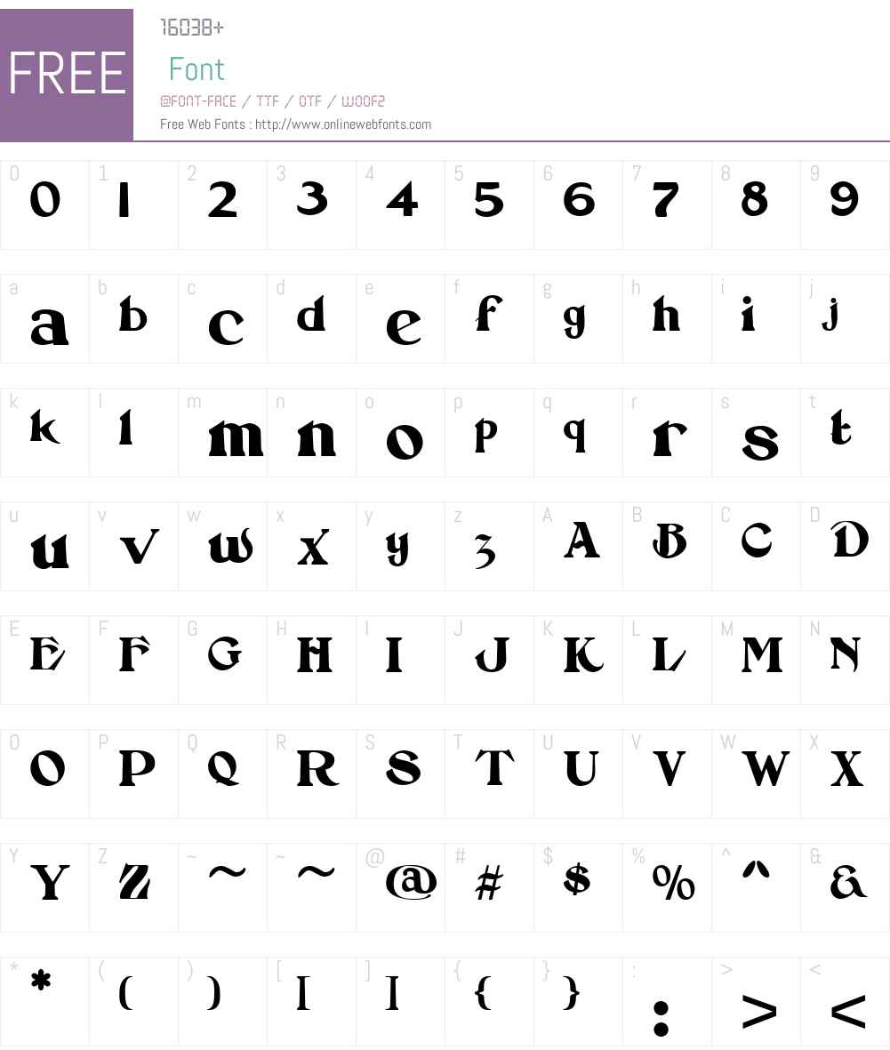 AbsinetteW01-Regular Font Screenshots