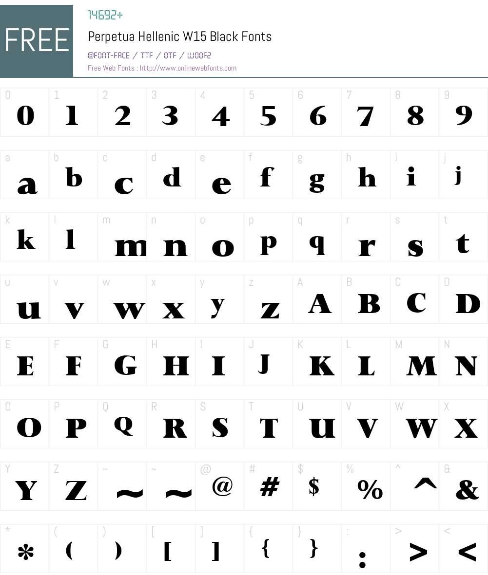 PerpetuaHellenicW15-Black Font Screenshots