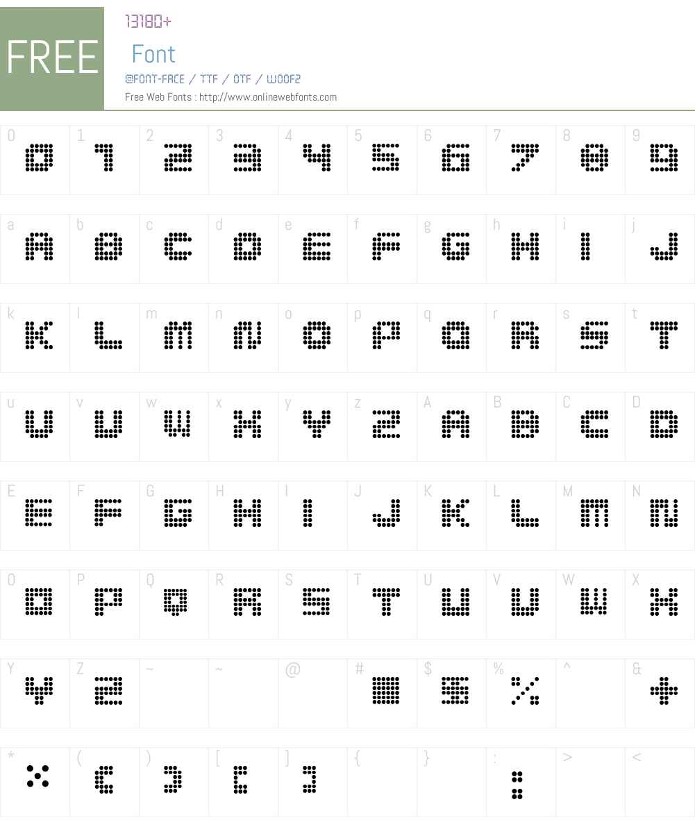 MedLed Font Screenshots