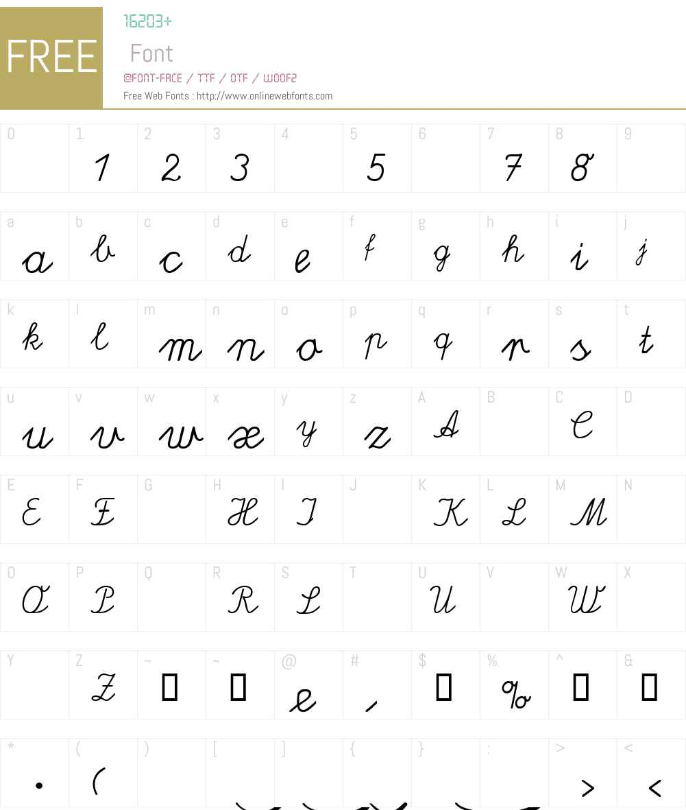 Lateinaus Font Screenshots