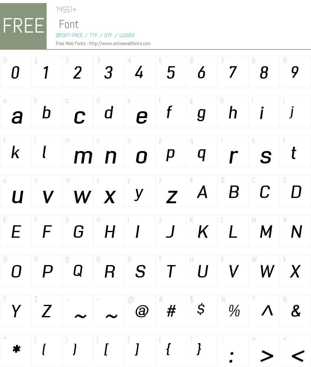 NotaBeneW01-MediumOblique Font Screenshots