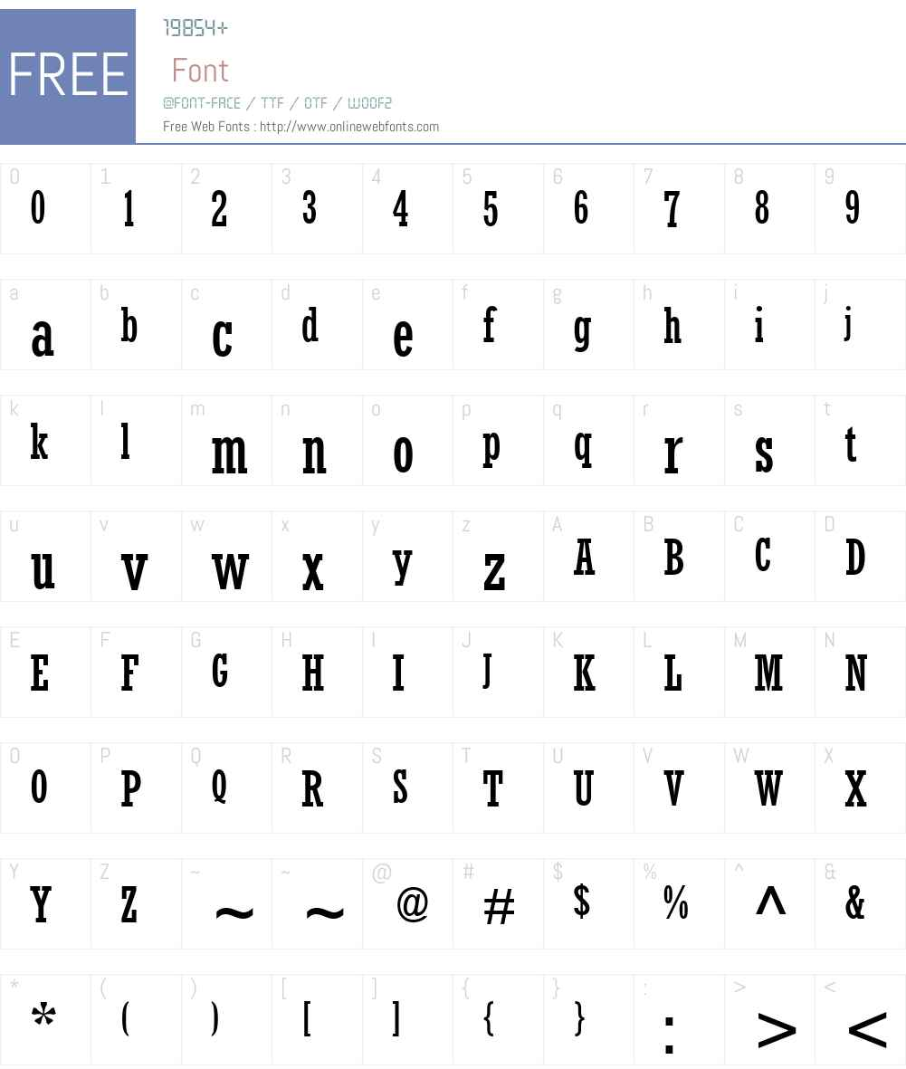 Rockwell Condensed Font Screenshots