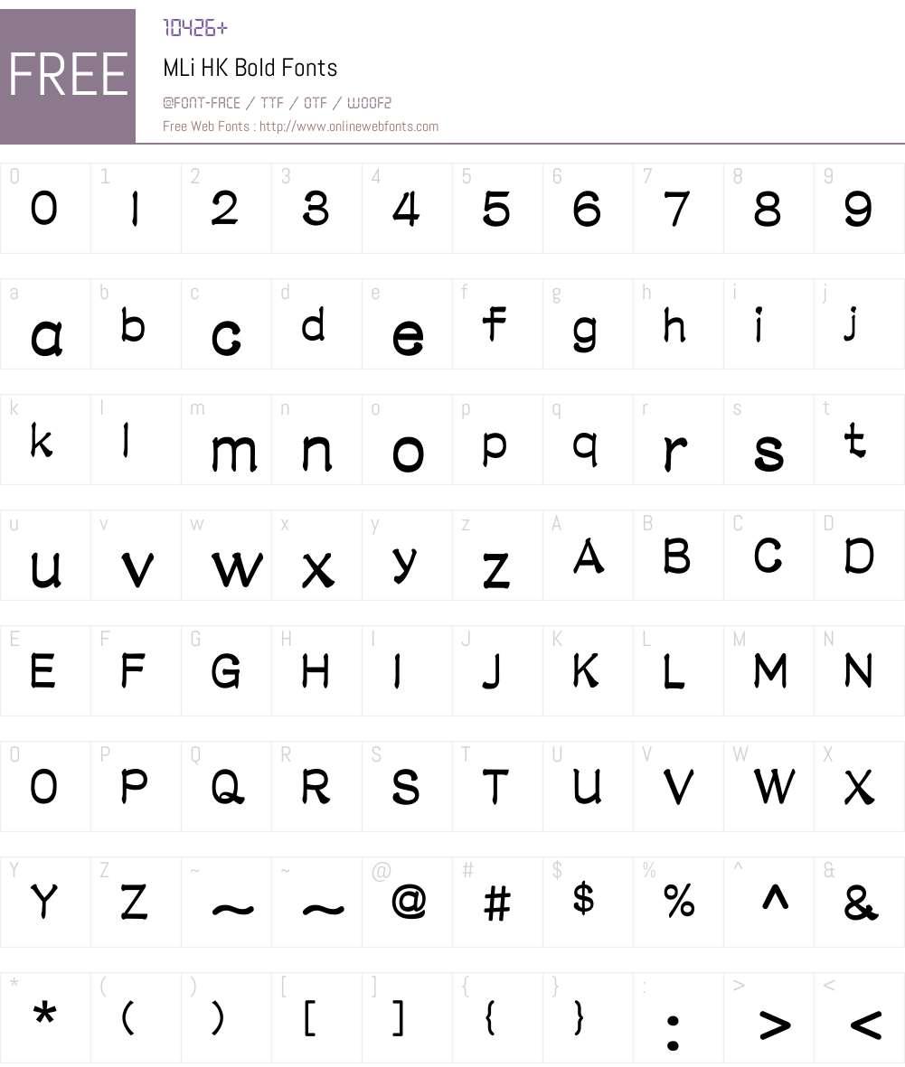 M Li HK Font Screenshots