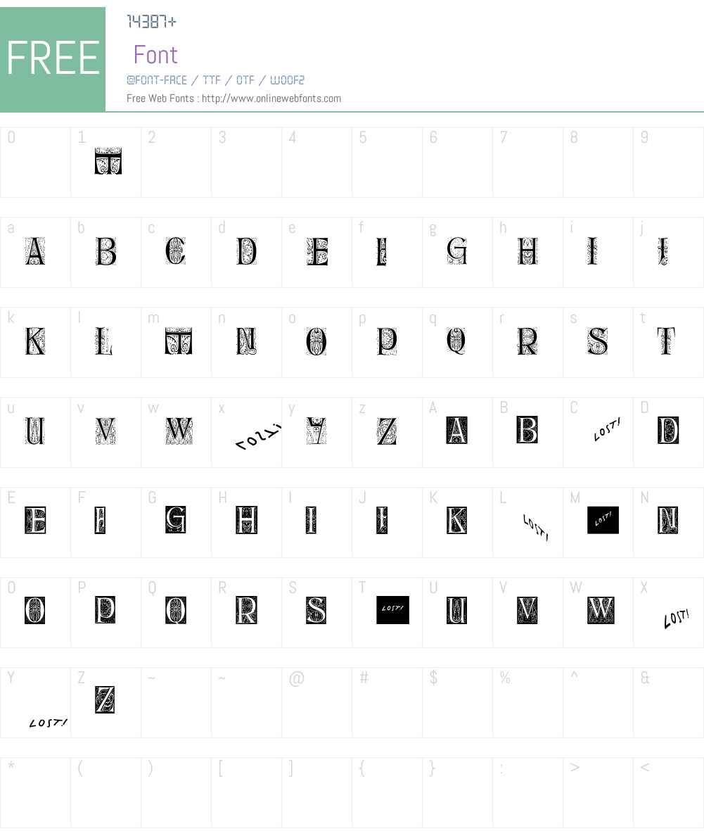 DelitschInitialen Font Screenshots