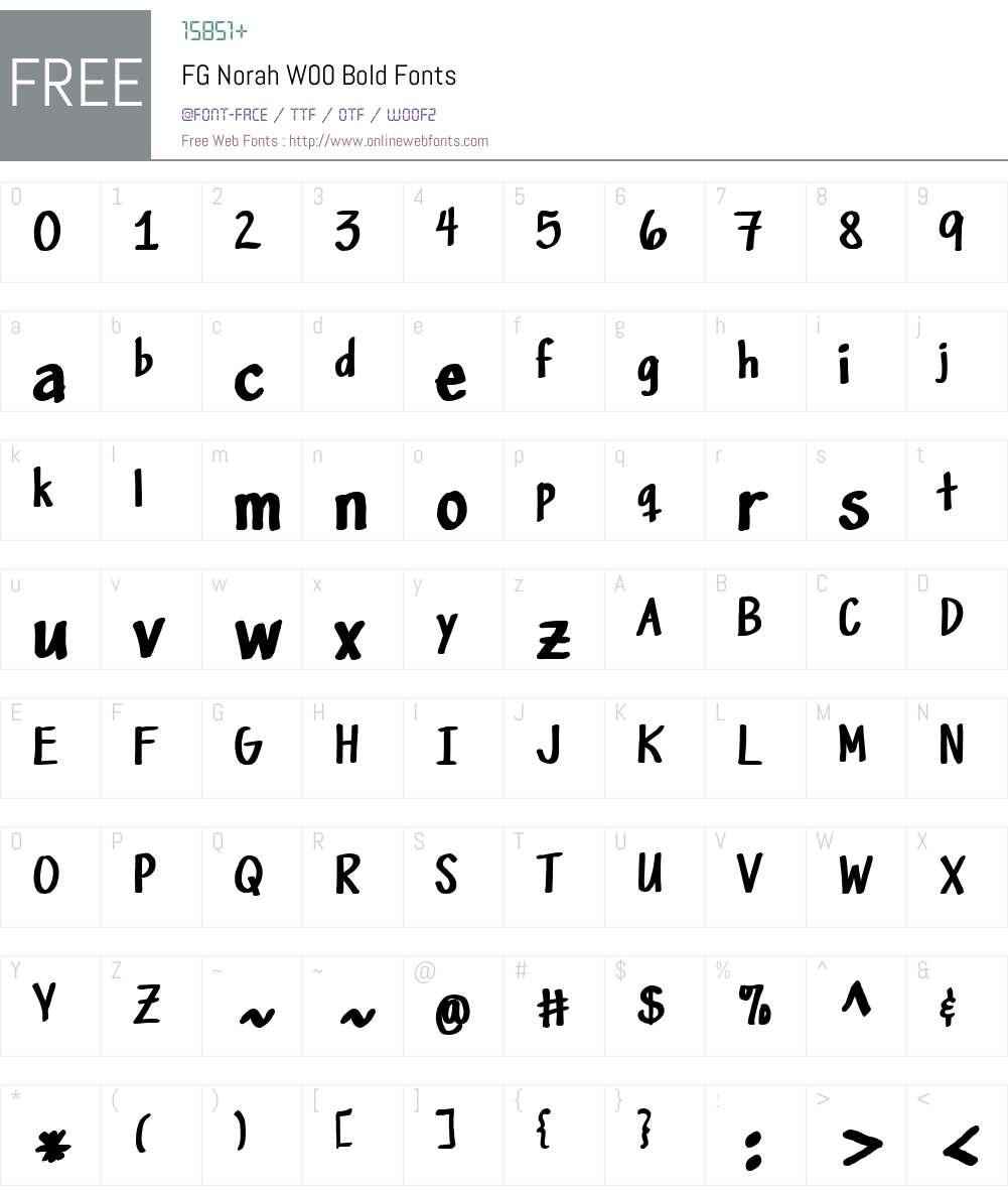 FGNorahW00-Bold Font Screenshots