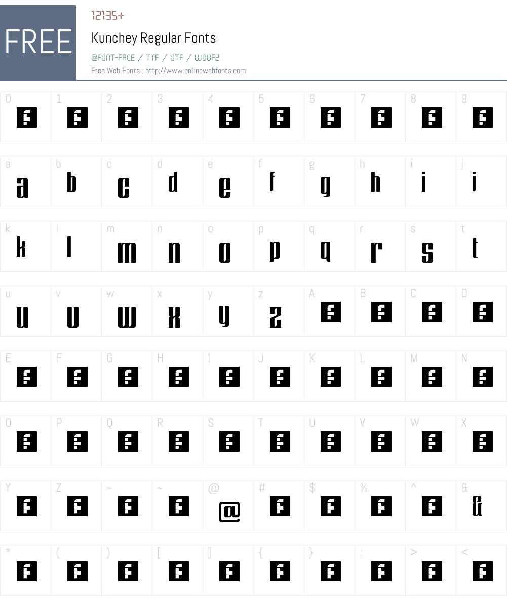Kunchey Font Screenshots