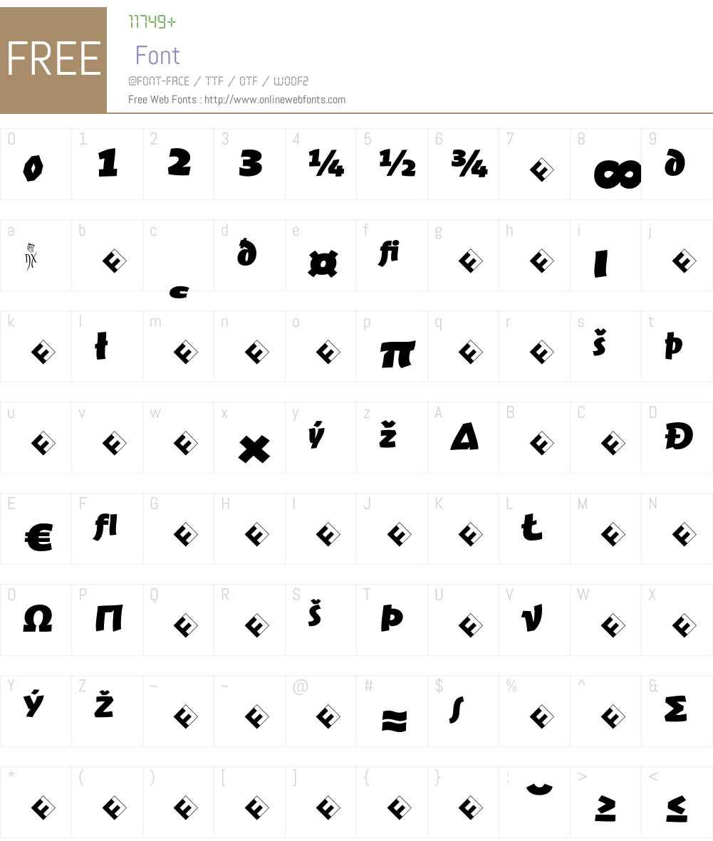 Jambono-BlackExpert Font Screenshots